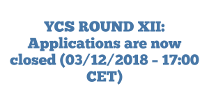 YCS ROUND XII: Applications are now closed (03/12/2018 – 17:00 CET)