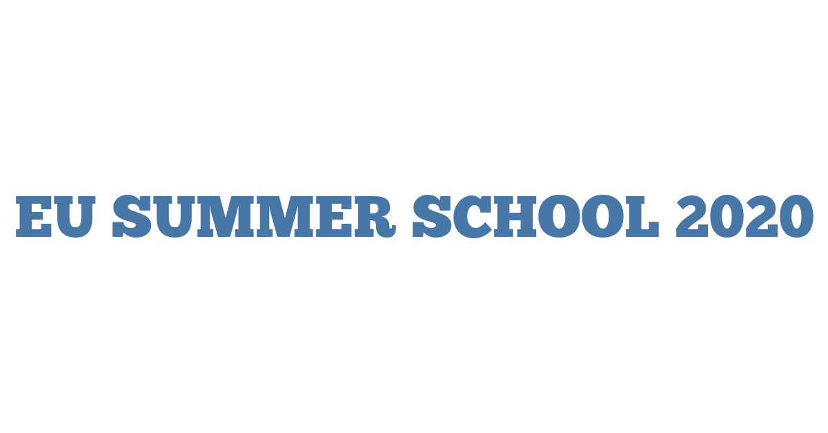 EU SUMMER SCHOOL 2020